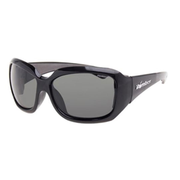 Bomber Sunglasses - Sugar Bomb Glossy Black Frm / Smoke Polarized Lens / Gray Foam