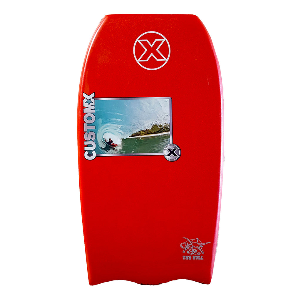 Custom X Bull PP 43.5 BT Bodyboard - Red deck, Red rails, White bottom