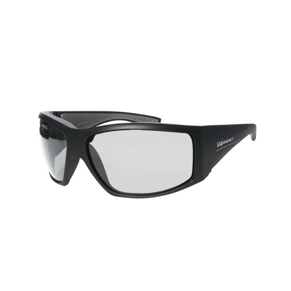 Bomber Sunglasses - Ahi Bomb Matte Black Frm / Clear Pc Safety Lens / Gray Foam