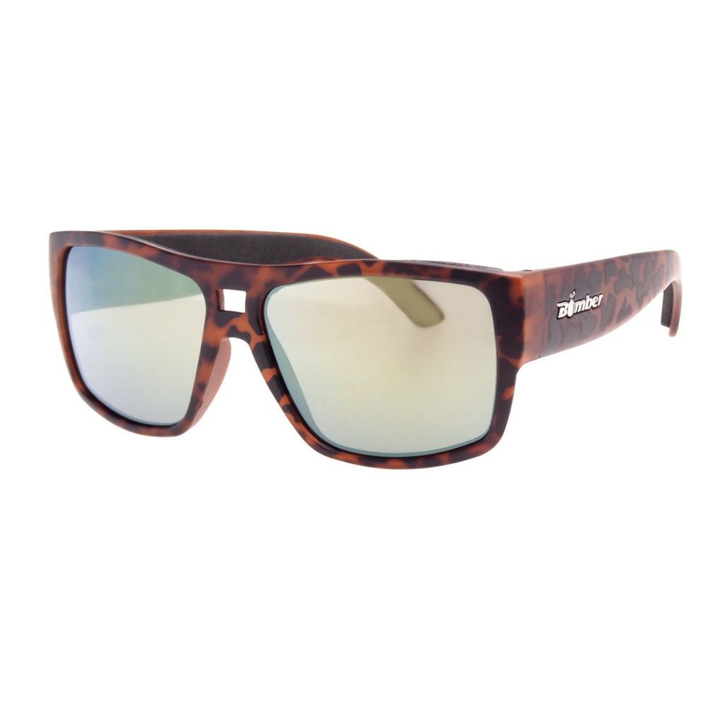 Bomber Sunglasses - Irie Bomb Matte Tortoise Frm / Yellow Mirror Pc Lens / Black Foam