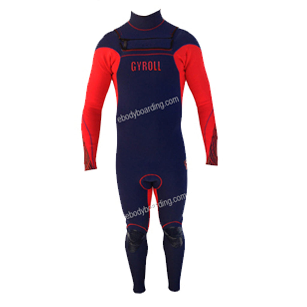 Mike Stewart Gyroll LS 3/2mm Fullsuit - Navy/Red - Size S