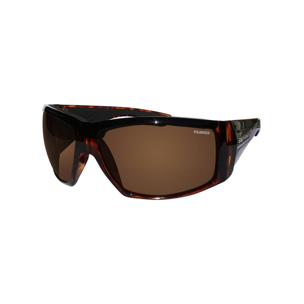 Bomber Sunglasses - Ahi Bomb Shiny Tortoise Frm / Brown Polarize Lens / Black Foam