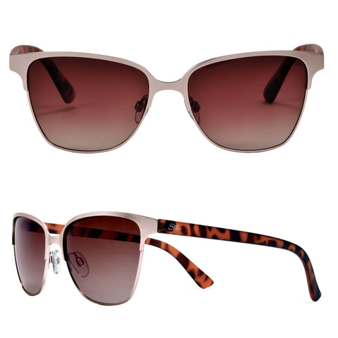 Seaspecs Sunglasses - Islander Rose Gold And Tortoise Frame With Gradation Polarized Lenses