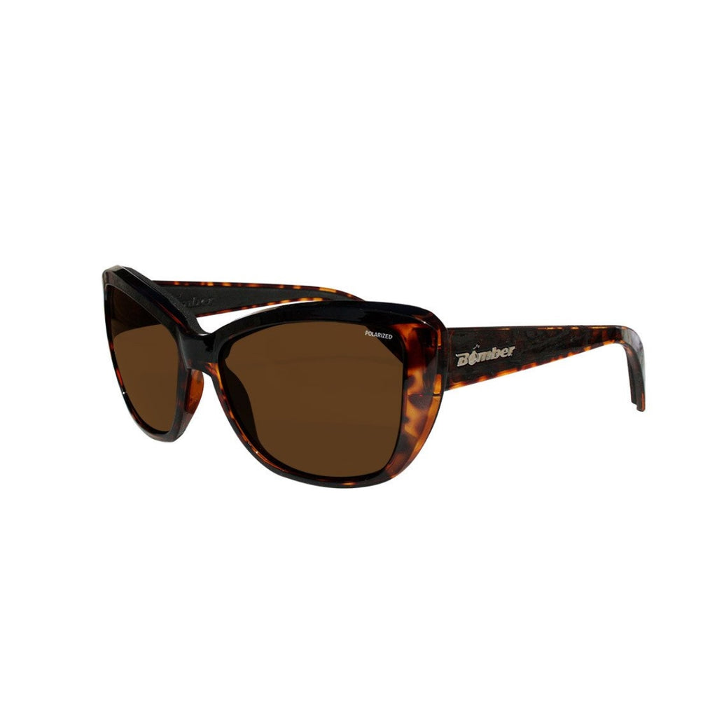 Bomber Sunglasses - Labomba Shiny Tortoise Frm / Brown Polarize Lens / Black Foam