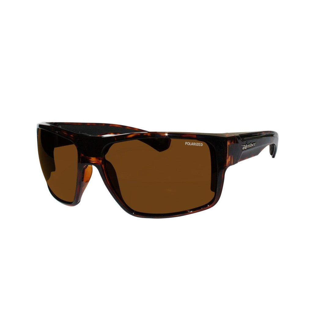 Bomber Sunglasses - Mana Bomb Shiny Tortoise Frm / Brown Polarize Lens / Black Foam