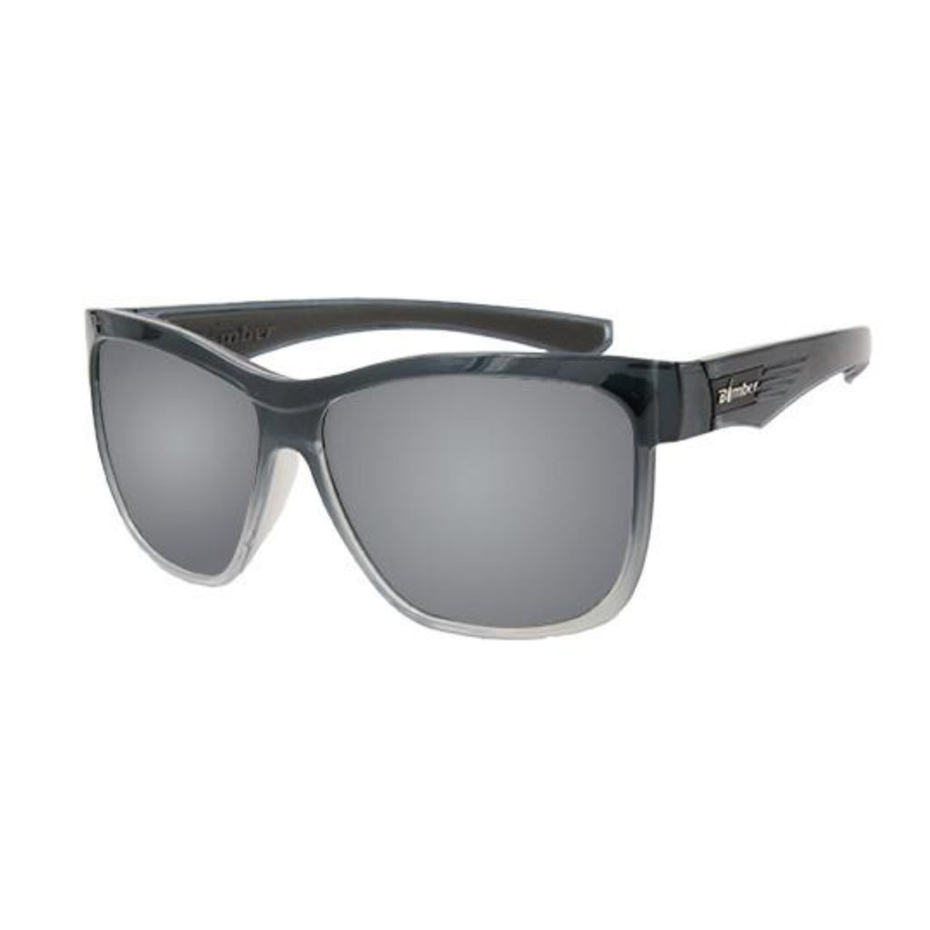 Bomber Sunglasses - Jaco Bomb 2 Tn Crystal Smoke Frm / Silver Mirror Pc Lens / Gray Foam