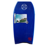 Custom X Bull PP 42.25 CR Bodyboard - Navy deck, Navy rails, White bottom