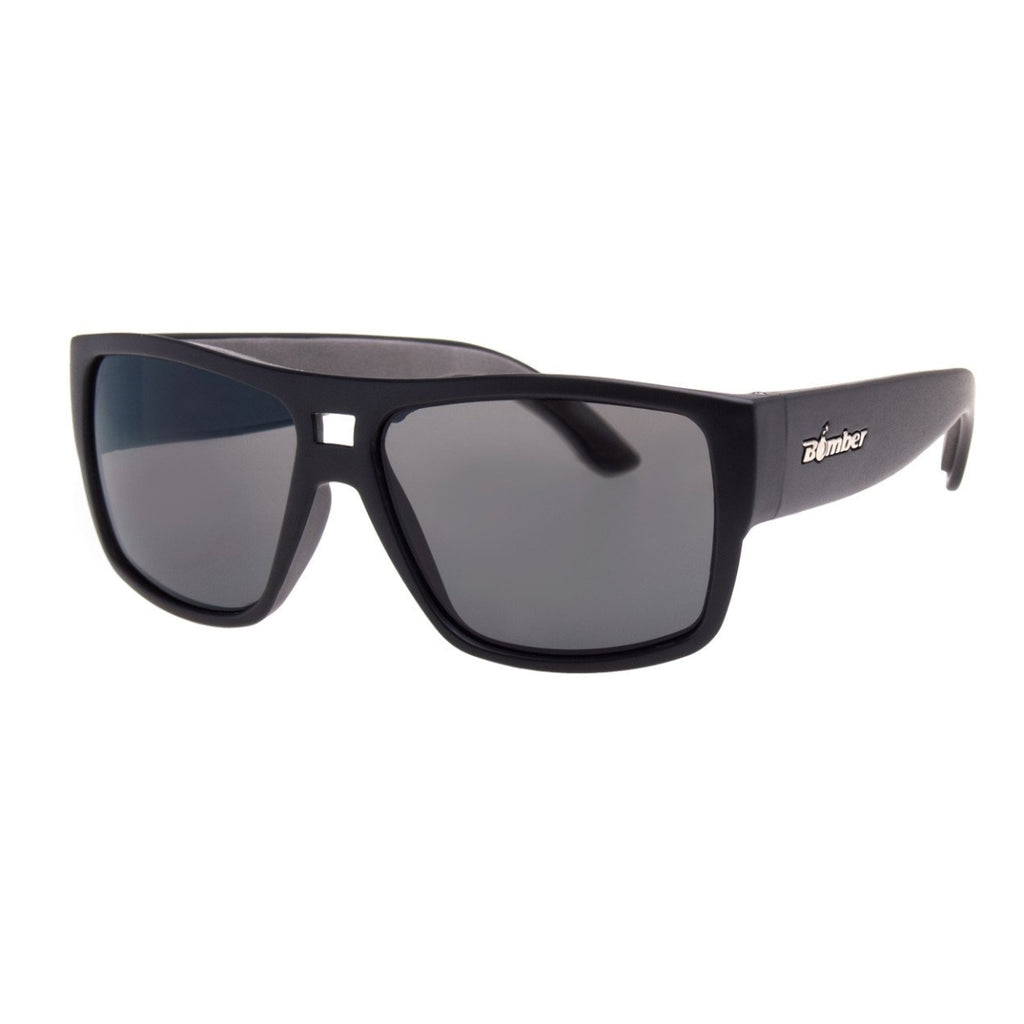 Bomber Sunglasses - Irie Bomb Matte Black Frm / Smoke Pc Lens / Gray Foam