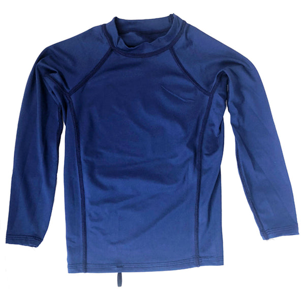 Junior Guard Youth Long Sleeve Rashguard - Navy