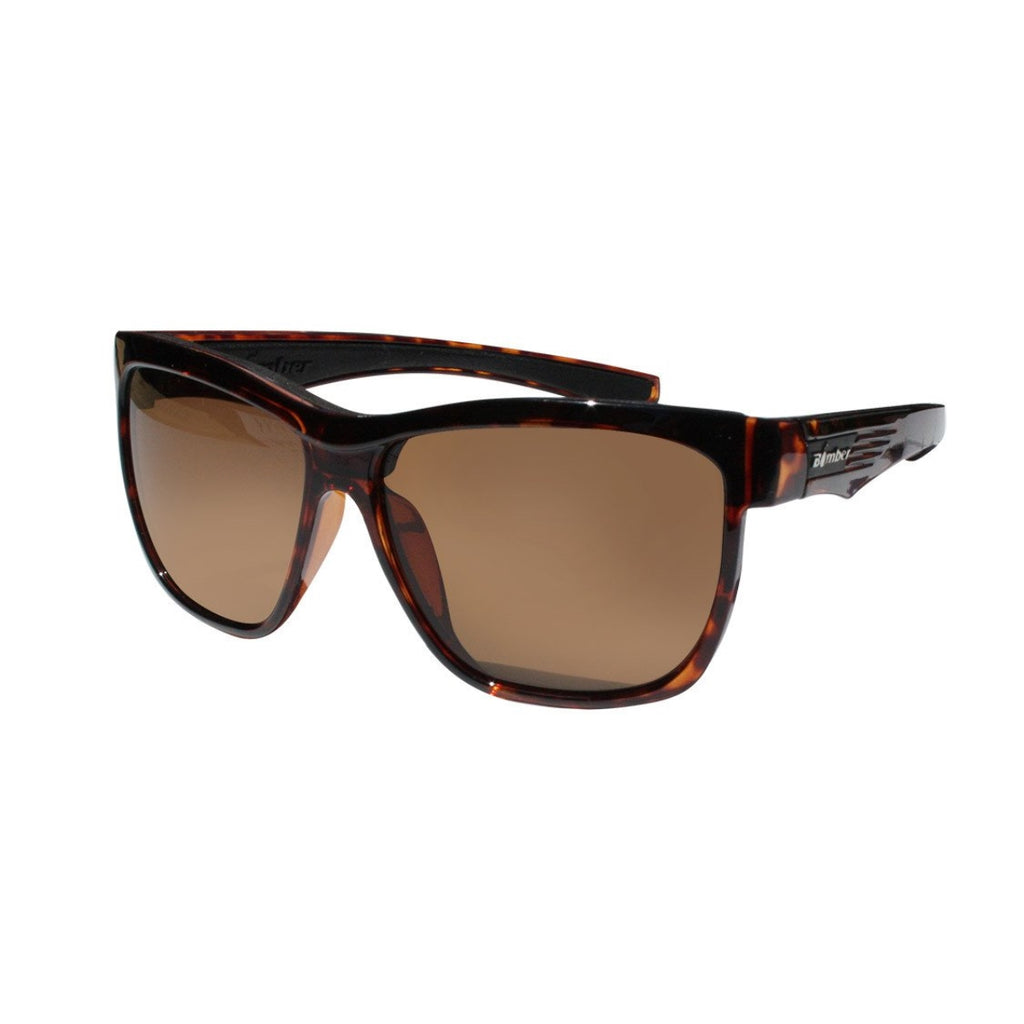 Bomber Sunglasses - Jaco Bomb Shiny Tortoise Frm / Brown Polarize Lens / Black Foam