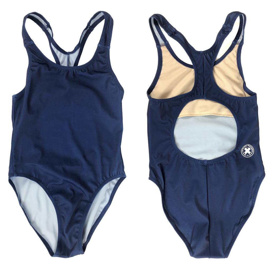 Junior Guard Girls One-Piece Swimsuit - Navy - 10