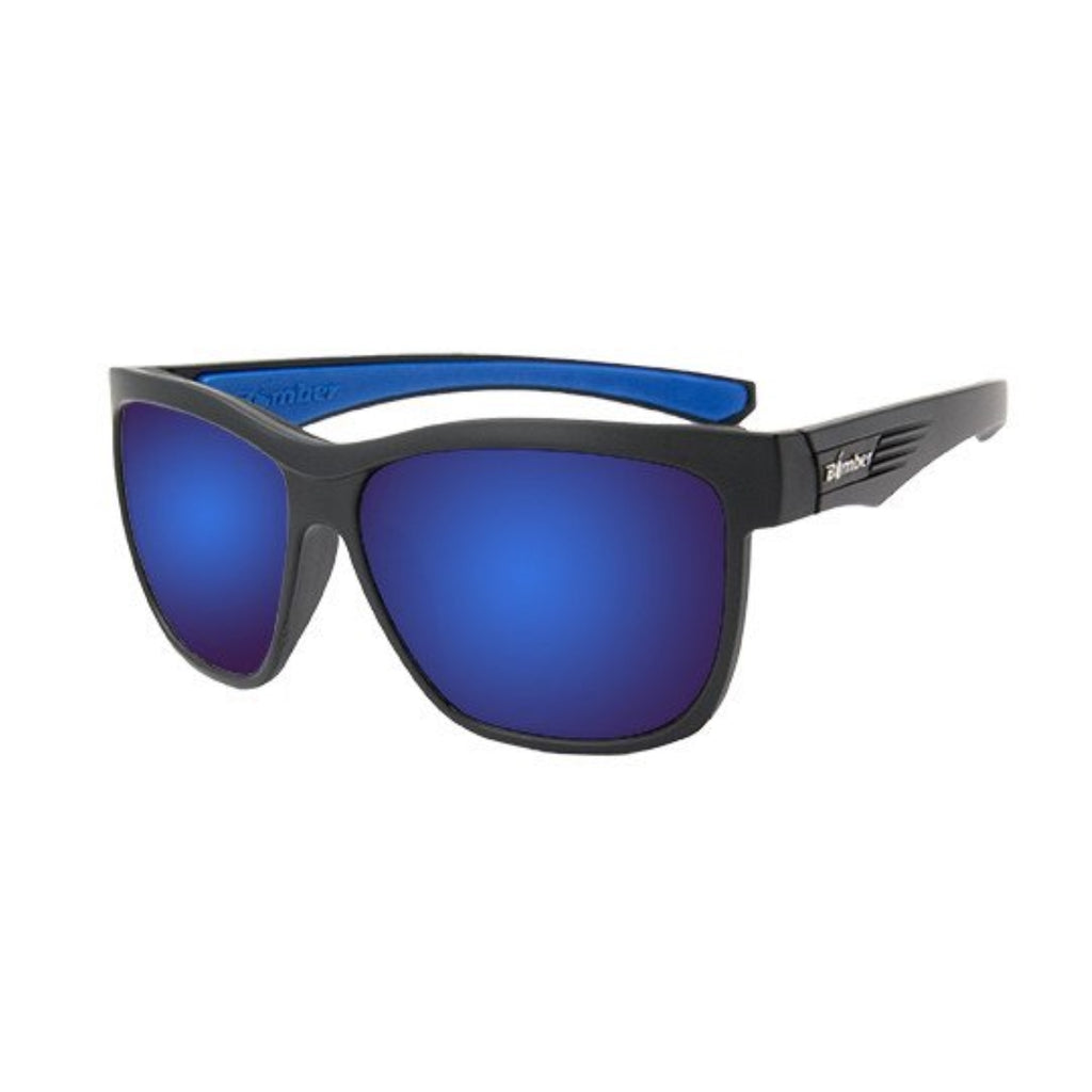 Bomber Sunglasses - Jaco Bomb Matte Black Frm / Blue Mirror Pc Lens / Blue Foam