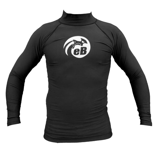 Ebodyboarding Eclipse Long Sleeve Rash Guard - Black - Size S