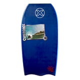 Custom X Bull PP 43.5 BT Bodyboard - Navy deck, Navy rails, White bottom