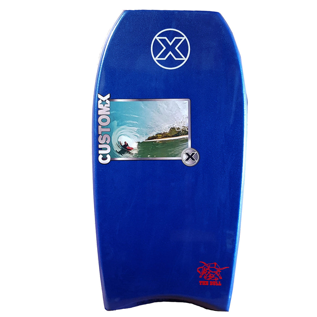 Custom X Bull PE 42.25 CR Bodyboard - Navy deck, Navy rails, White bottom