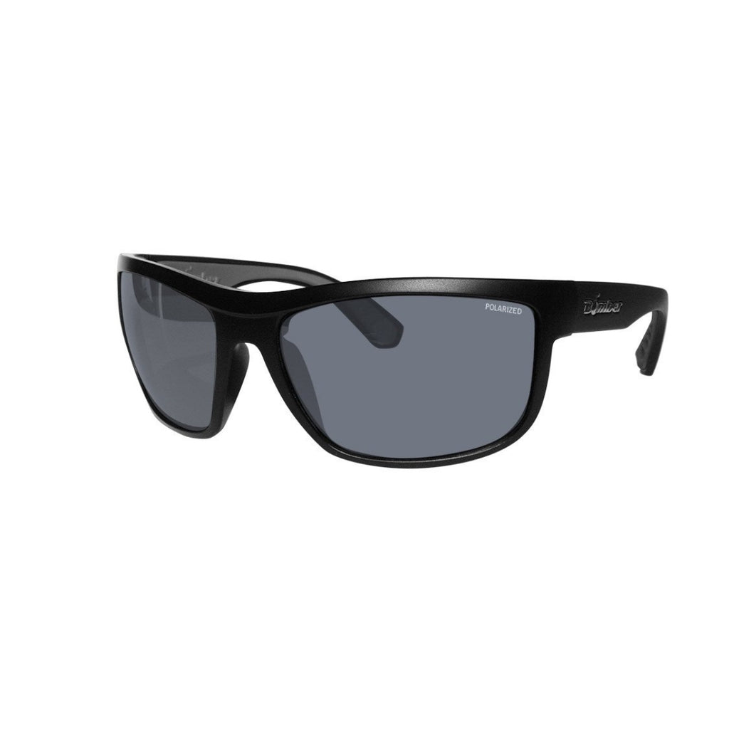 Bomber Sunglasses - Hub Bomb Matte Black Frm / Smoke Polarized Lens / Gray Foam