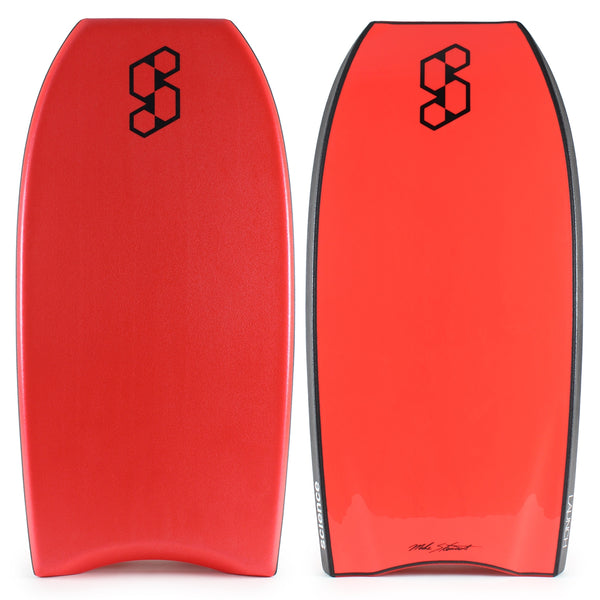 Mike Stewart Launch PP 41.5 2017 Bodyboard - Red deck, Black rails, Red bottom