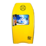 Custom X Bull PP 42.25 CR Bodyboard - Yellow deck, Yellow rails, White Bottom