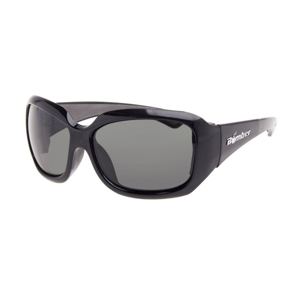 Bomber Sunglasses - Sugar Bomb Glossy Black Frm / Smoke Pc Lens / Gray Foam