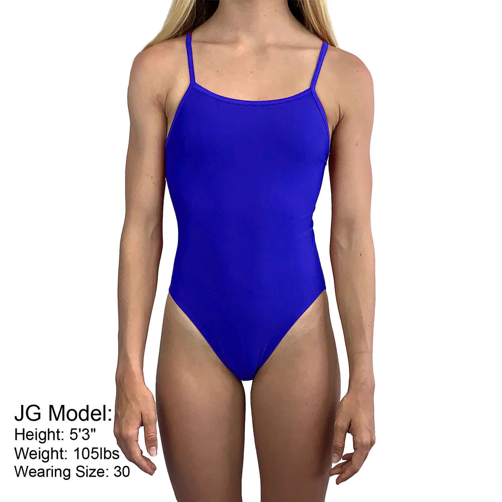 Jr. Guards Girls & Womens One Piece Swimsuit -Navy, Red & Royal Blue (Sizes 20-36)