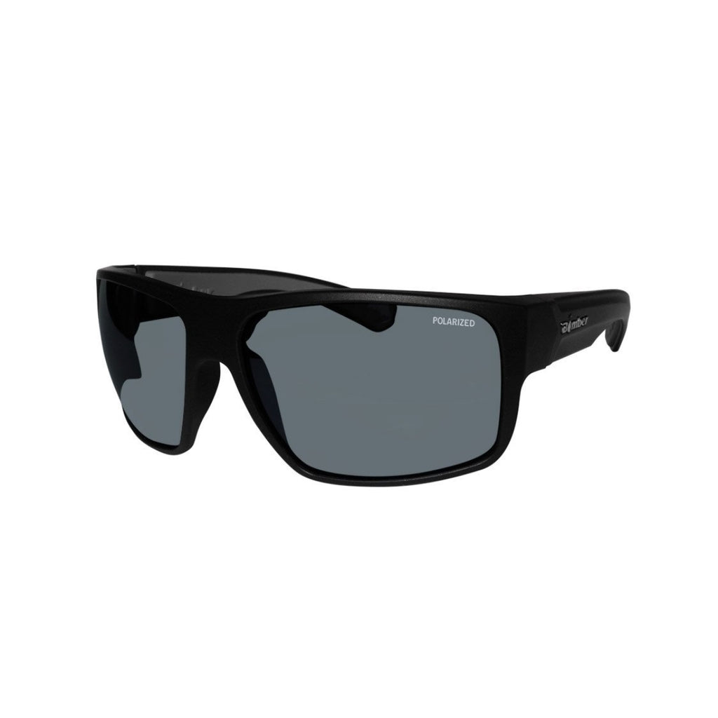 Bomber Sunglasses - Mana Bomb Matte Black Frm / Smoke Polarized Lens / Gray Foam
