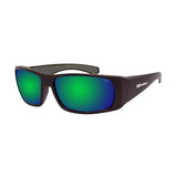 Bomber Sunglasses - Pipe Bomb Matte Black Frm / Green Mirror Pc Safety Lens / Grey Foam