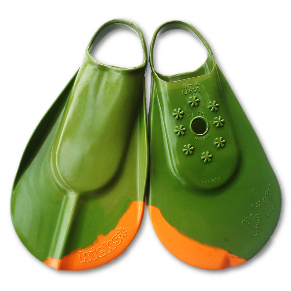 Kicks Surplus Green/Orange Swimfins- M