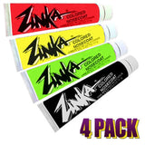 Zinka Sunscreen Colored Sunblock Zinc Waterproof Nosecoat 4 Pack Bundle - Rasta