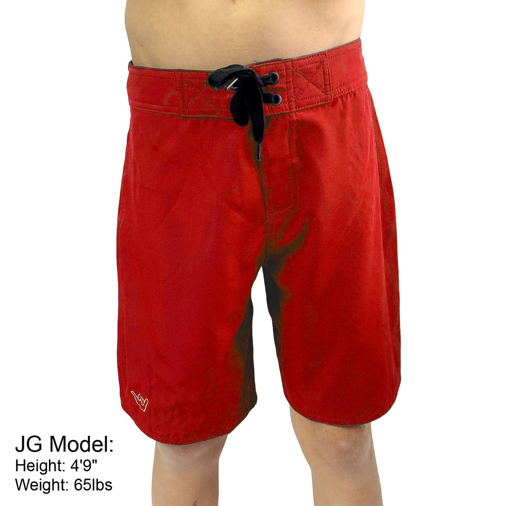 Boys and Mens Junior Guard Boardshort Swim Trunks -Navy, Red & Royal Blue (Sizes 20-36)