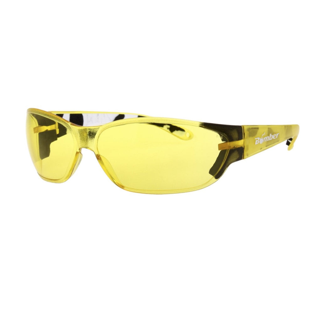 Bomber Sunglasses - H Bombs Yellow Safety W/ Foam