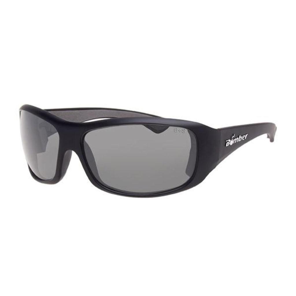 Bomber Sunglasses - Butter Bomb Matte Black Frm / Photochromic Safety Lens / Gray Foam