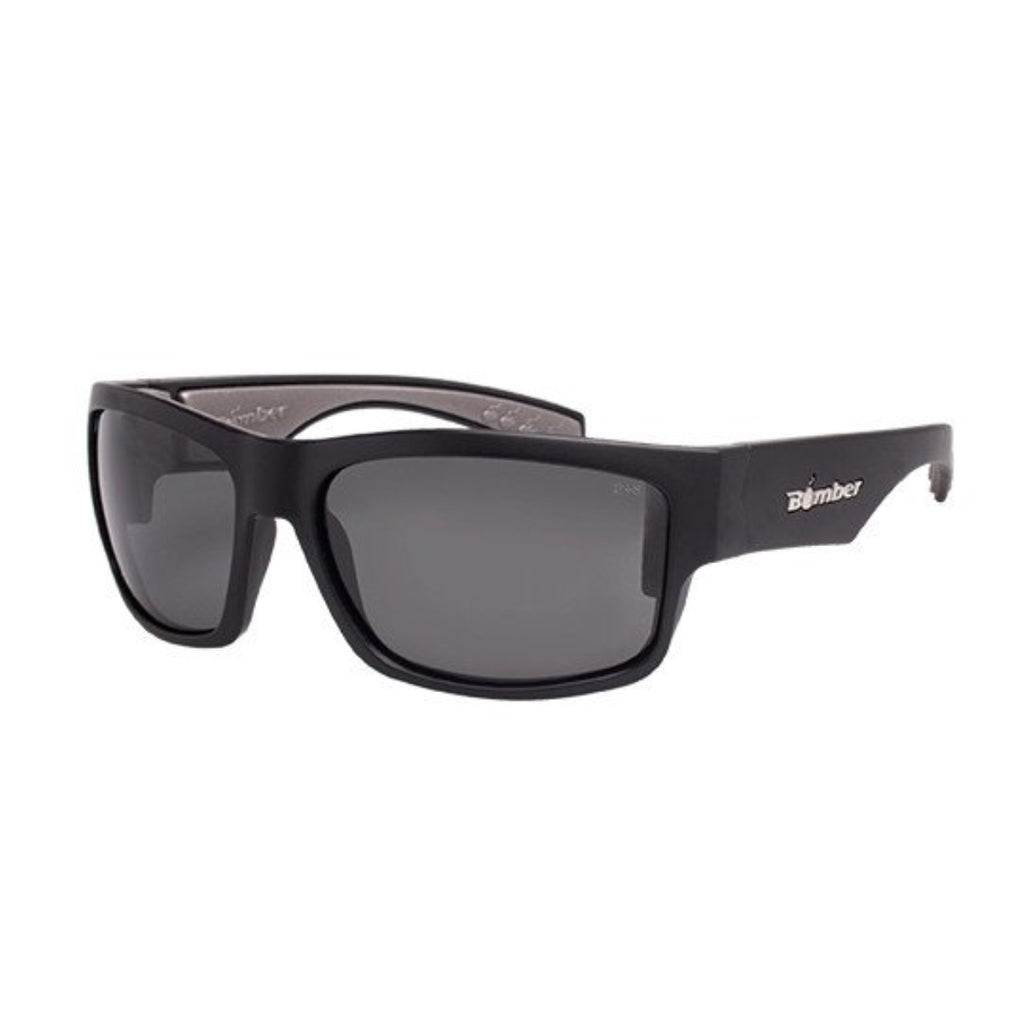 Bomber Sunglasses - Tiger Bomb Matte Black Frm / Smoke Pc Safety Lens / Gray Foam