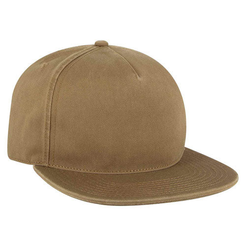 Dad Hat Garment Washed Superior Cotton Twill Flat Bill Unstructured Soft Crown Low-Fitting