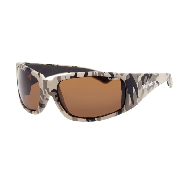 Bomber Sunglasses - Stink Bomb Sand Camo Frm / Brown Polarized Lens / Black Foam