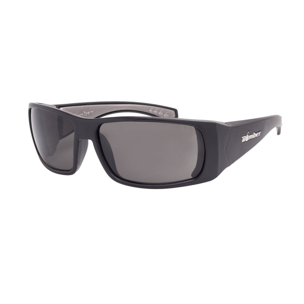 Bomber Sunglasses - Pipe Bomb Matte Black Frm / Smoke Pc Safety Lens / Gray Foam