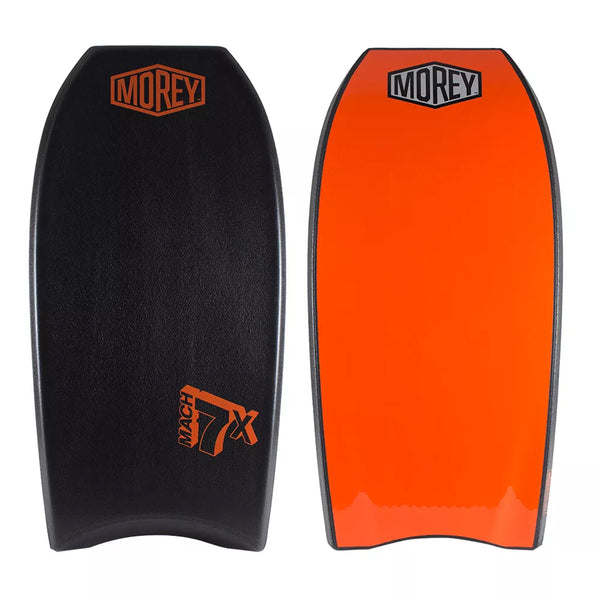 Morey Mach 7X 42.5 Bodyboard - Black deck, Black rails, Orange bottom