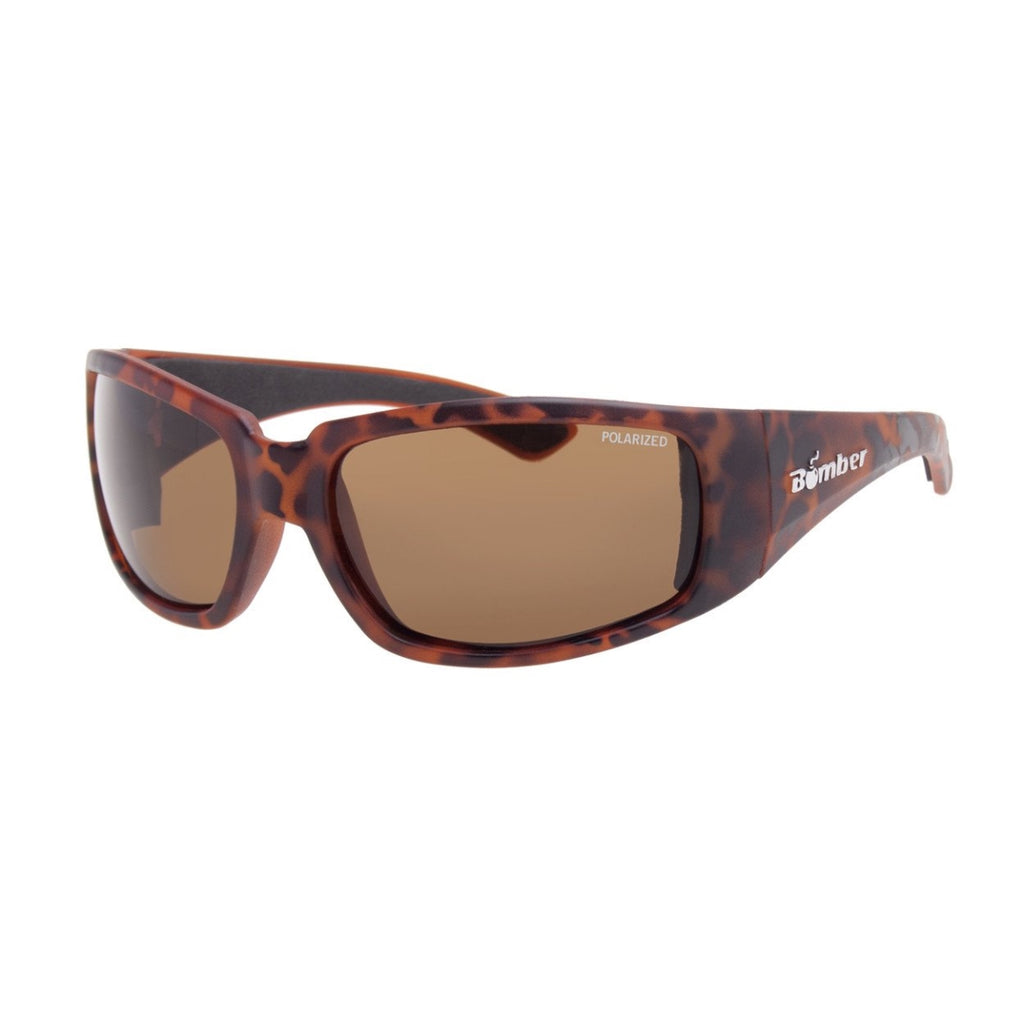 Bomber Sunglasses - Stink Bomb Tortoise Frm / Brown Polarized Lens / Black Foam