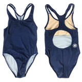 Junior Guard Girls One-Piece Swimsuit - Navy - 16