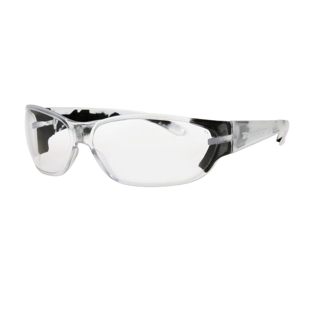 Bomber Sunglasses - H Bombs Clear Safety W/ Foam