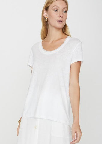 Brochu Walker Massa Tee in Salt White