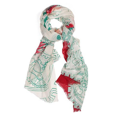 We are Owls Scarf in Gears