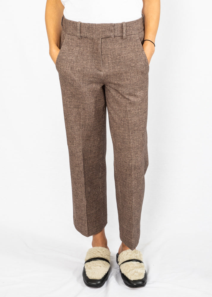 Circolo Wide Leg Pants in Brown Check