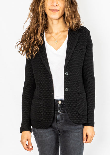 Circolo Honeycomb Blazer in Black