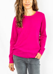 Label + Thread Crew Sweater in Magenta