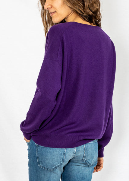 Closed V Sweater in Amethyst