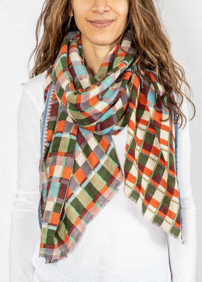 Epice Plaid Scarf in Hunter