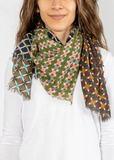 Epice Square Scarf in Geo Print