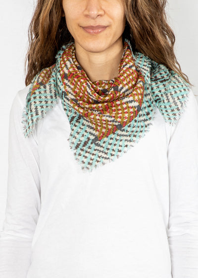 Epice Square Scarf in Blue