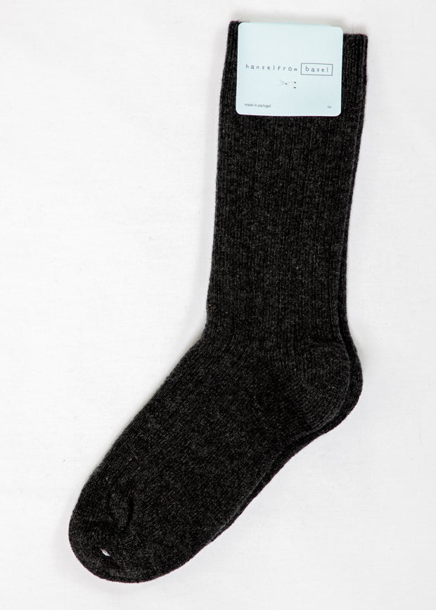Hansel From Basel Cashmere Blend Socks in Charcoal