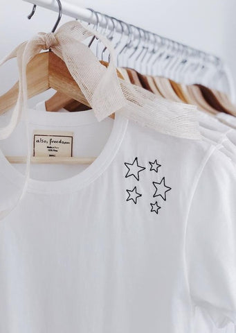 Also, Freedom White Tee in Stars
